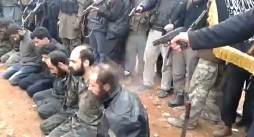 Video dell'esecuzione di cristiani in Siria